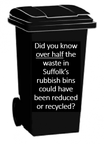 Did you know over half the waste in Suffolk's rubbish bins could have been reduced or recycled?