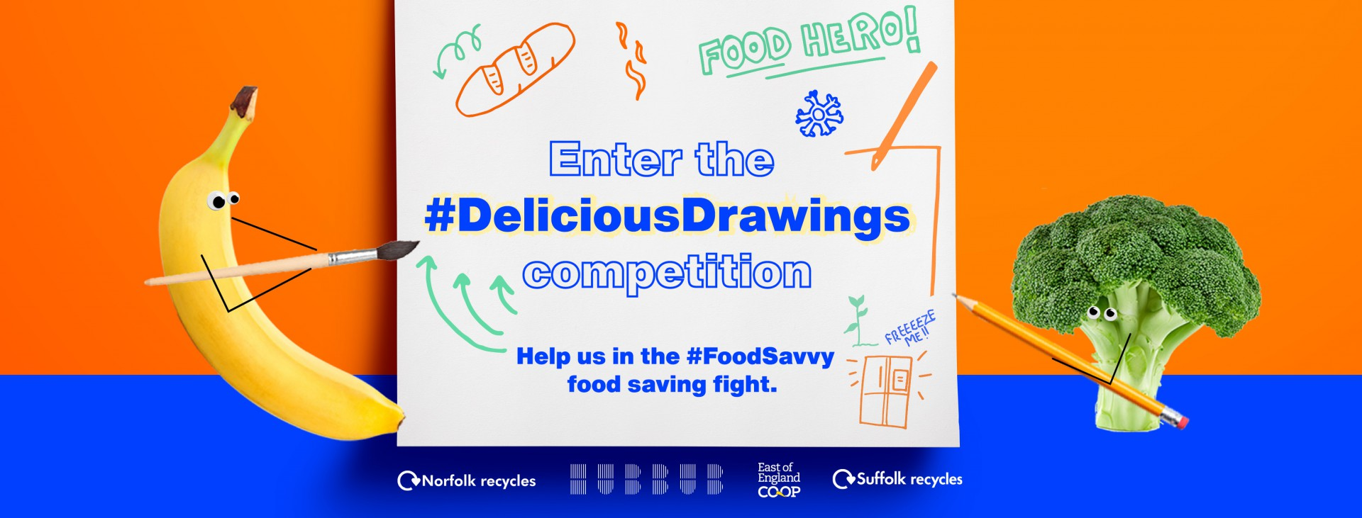 Enter #DeliciousDrowing Competition. Help us in the #FoodSavvy food saving fight.