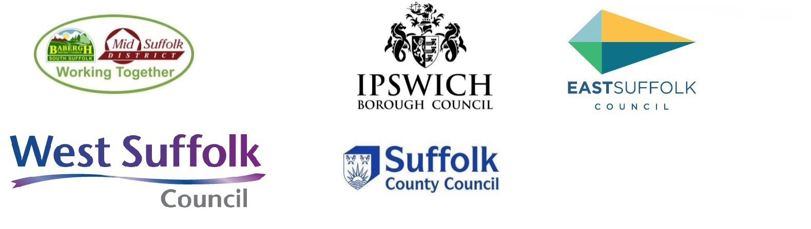Suffolk County, District and Borough Council logos