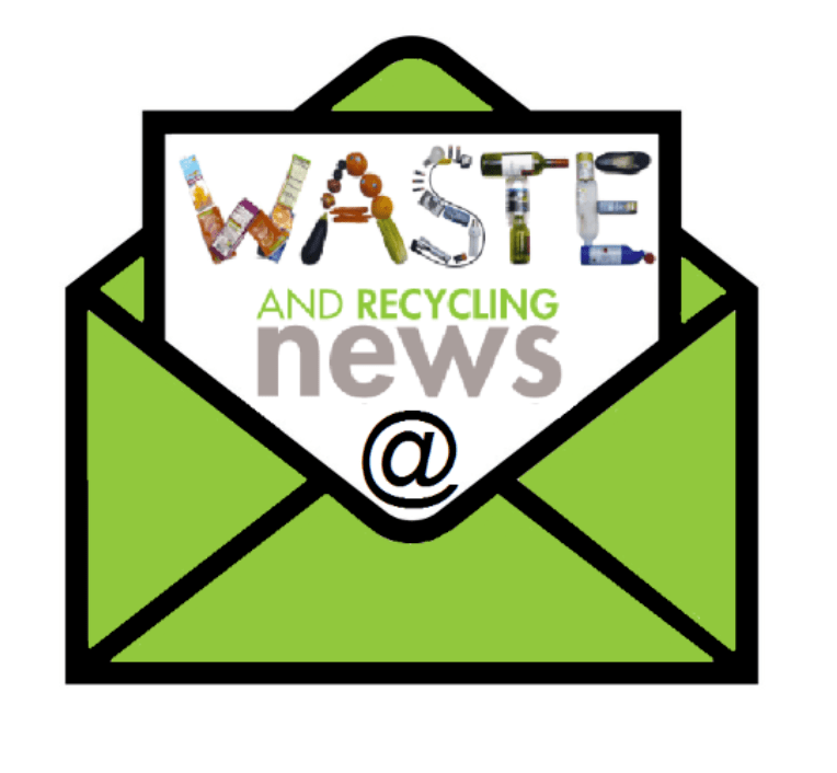 Waste and recycling email newsletter icon