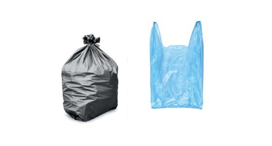 Black sack and plastic bag picture