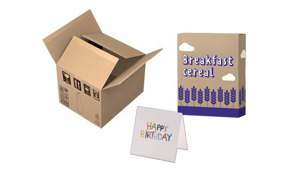 Cardboard, clean card food packaging and cards picture