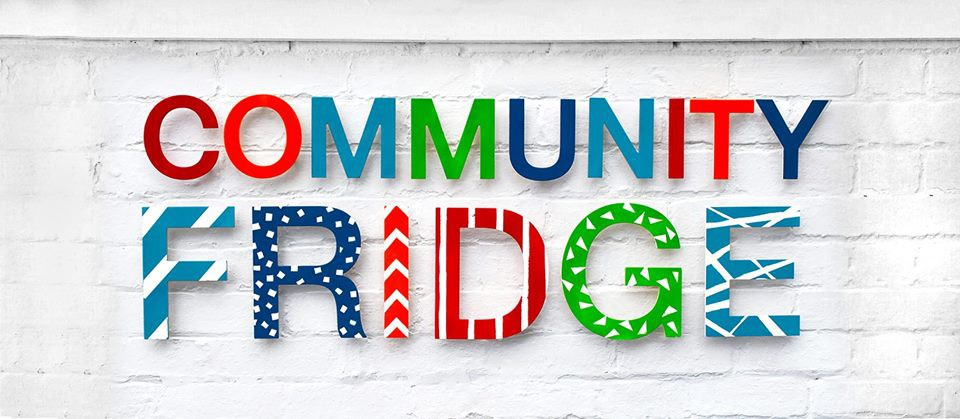 picture with wording - community fridge
