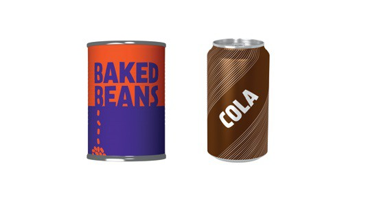 Food and drink cans picture