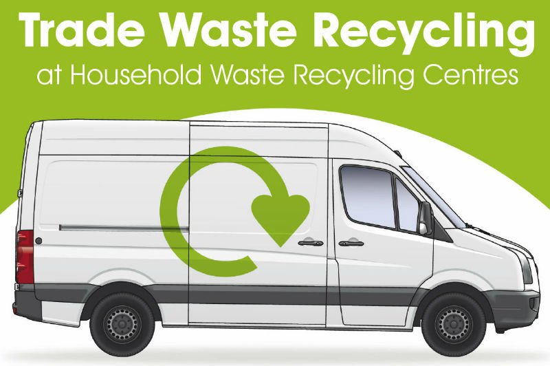 Trade waste recycling van